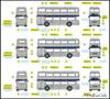 -  TTCDIECAST RAPIDO 64313233 Set of 3 1977 Queens silver jubilee Leyland Fleetlines