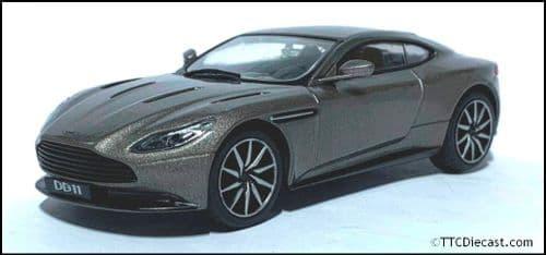 1:43 Scale Diecast - Aston Martin DB11 2016 - Matallic Grey  - In Solid plastic case - MAG MK06