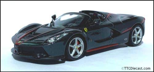 1:43 Scale Diecast - Ferrari Aperta 2016 - Metallic Black - Solid plastic case - MAG MK01