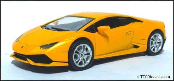 1:43 Scale Diecast - Lamborghini Huracan LP 610 - 4, Metallic Orange - Solid plastic case - MAG MK04