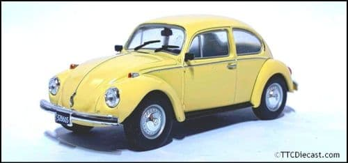 1:43 Scale Diecast VW Beetle 1300L 1980 Yellow  - In Solid plastic case - MAG LX28 .