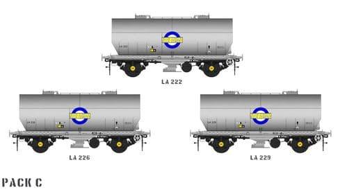 Accurascale ACC1052-PCV-C APCM Cemflo / PCV Powder Wagon - Triple Pack - LA222/6/9 - Pre TOPS