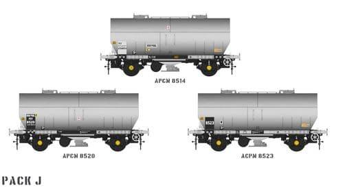 Accurascale ACC1067-PCV-J APCM Cemflo / PCV Powder Wagon - Triple Pack  APCM8514, APCM8520, APCM8523