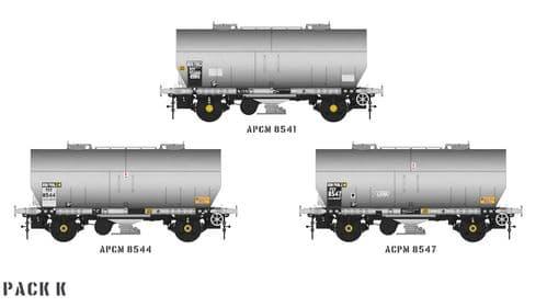 Accurascale ACC1068-PCV-K APCM Cemflo / PCV Powder Wagon - Triple Pack  APCM8541, APCM8544, APCM8547