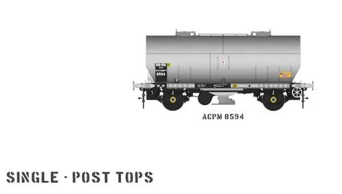 Accurascale ACC1072-PCV-2 APCM Cemflo / PCV Powder Wagon - Single Pack - APCM8594 TOPS