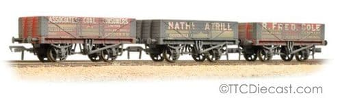 Bachmann 37-097 Coal Trader' Pack 5 Plank Wagons Weathered