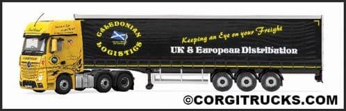 CORGI CC15807 Mercedes MP4 Curtainside, Caledonian Logistics **LAST ONE **