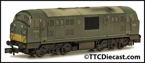 DAPOL 2D-012-013 Class 22 D6315 BR Green SYP Font A Weathered