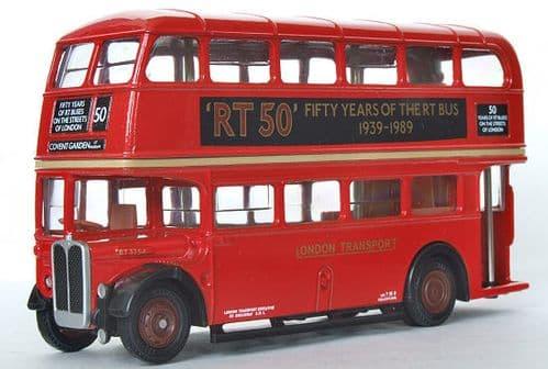 EFE 101003C AEC Regent RT - London Transport - RT50 - Route 50 Covent Garden LT Museum - PRE OWNED