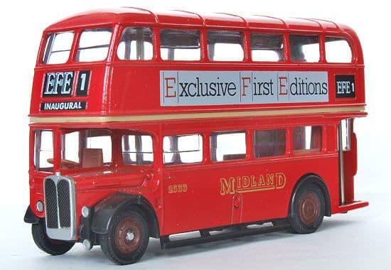 EFE 101007 AEC Regent III - Midland Red - EFE Adverts - PRE OWNED