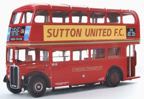 EFE 10128A AEC Regent RT - London Transport - Route 156 Morden Stn - Sutton Utd PRE OWNED