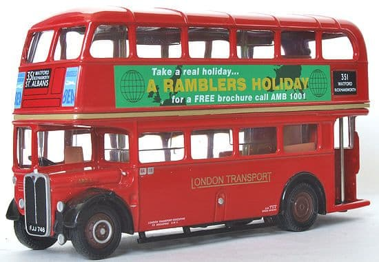 EFE 10128B AEC Regent SRT ' London Transport ' Rambler Holidays - Route 351 St Albans PRE OWNED