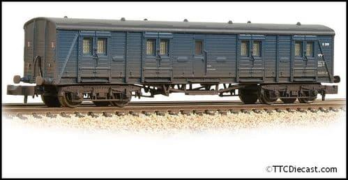 Farish 374-632A SR Bogie B Luggage Van BR Blue - Weathered
