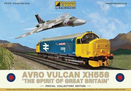 Farish 370-375 Avro Vulcan XH558 Collectors Pack