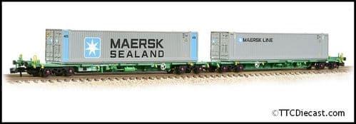 Farish 377-369 FIA Intermodal Bogie Wagons With 'Maersk line' 45ft Cont