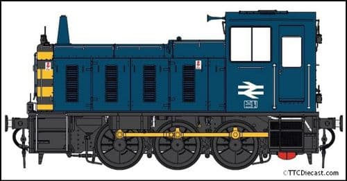 HELJAN 2073 Class 03 un-numbered BR blue / wasps Conical exhaust