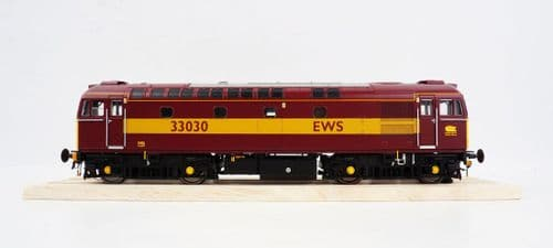 HELJAN 3402 Class 33/0 33030 in EWS red and gold