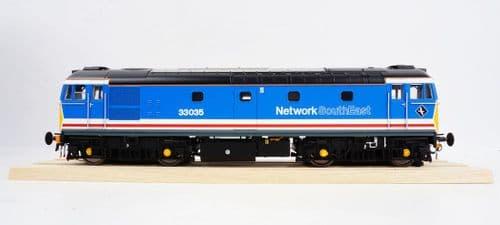 """HELJAN 3403 Class 33/0 33035 """"Spitfire"""" in Network SouthEast blue"""