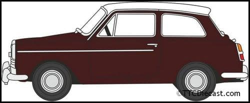 OXFORD 76AA007 Austin A40 MkII Maroon B/Snowberry White