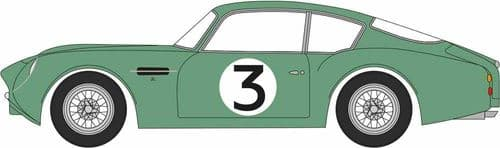 OXFORD 76AMZ002 Aston Martin DB4GT Zagato 2 VEV Jim Clark Goodwood 1961