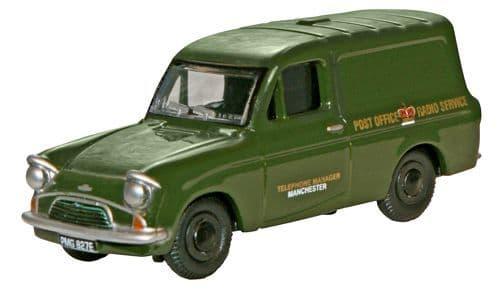 OXFORD 76ANG005 Ford Anglia Van - Po Telephones (Green)
