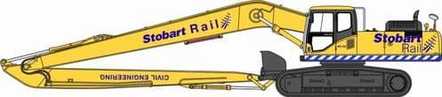 OXFORD 76KOM002 Komatsu 340 Excavator -  Stobart Rail