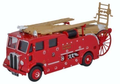 OXFORD 76REG007 AEC Regent Pump Escape Cardiff City Fire S