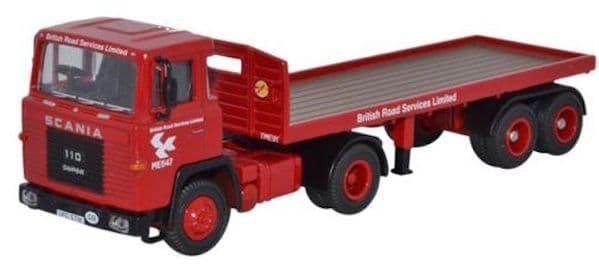 OXFORD 76SC110002 Scania 110 Flatbed Trailer - BRS