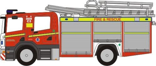 OXFORD 76SFE001 Scania Fire Engine Cleveland Fire & Rescue