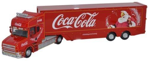 OXFORD 76TCAB004CC Scania T Cab Box Trailer - Coca-Cola