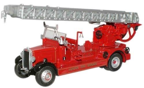 OXFORD 76TLM001 Leyland TLm Fire Engine - London Fb (WSL)