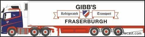 OXFORD 76VOL4011 Volvo FH4 GXL Fridge Trailer Gibbs of Fraserburgh