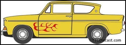OXFORD N105008 Ford Anglia Yellow (Vyv)