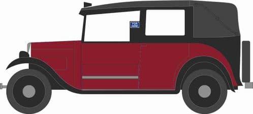 OXFORD NAT004 Austin Low Loader Taxi - Burgundy