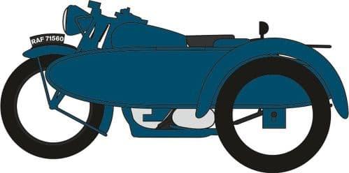 OXFORD NBSA008 Motorbike & Sidecar RAF Blue BSA Motorcycle
