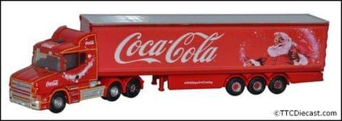 OXFORD NTCAB007CC Scania T Cab Box Trailer Coca Cola Xmas