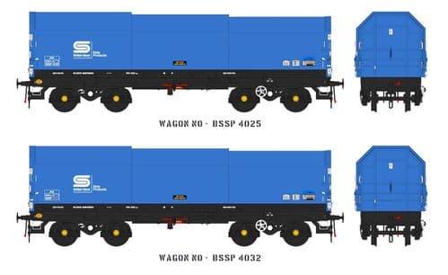 Accurascale ACC2120 JSA Bogie Covered Steel Wagon Twin Pack British Steel 1, OO Gauge