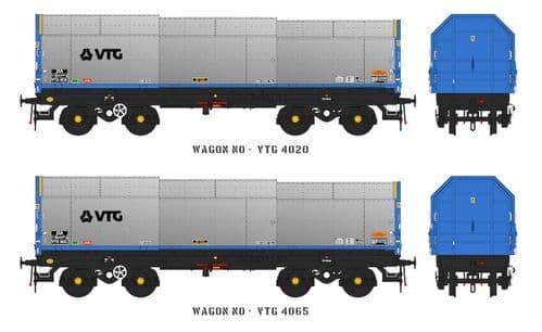 Accurascale ACC2126 JSA Bogie Covered Steel Wagon Twin Pack - VTG 1, OO Gauge