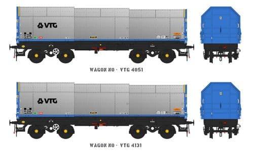 Accurascale ACC2128 JSA Bogie Covered Steel Wagon Twin Pack - VTG 3, OO Gauge