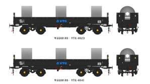 Accurascale ACC2132 JSA Bogie Open Steel Wagon Twin Pack - VTG 1, OO Gauge