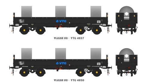 Accurascale ACC2133 JSA Bogie Open Steel Wagon Twin Pack - VTG 2, OO Gauge
