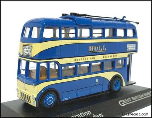 ATLAS EDITIONS 4655 128 B - Leyland TB2/Weymann Trolleybus - Hull Corporation, Rte 61 *PRE OWNED*