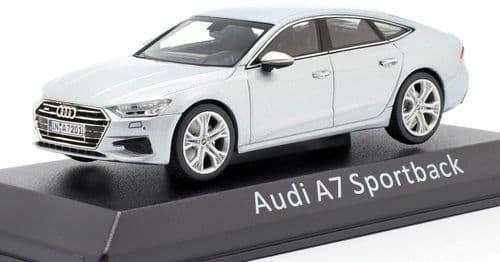 Audi Dealer 143042 - 1:43 Scale Audi A7 Sportback silver - Audi Dealer Packaging