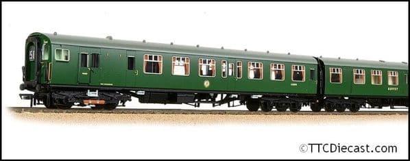Bachmann 31-490 4 BEP 4 Car EMU 7003 BR Green Small Yellow Panel, OO Gauge