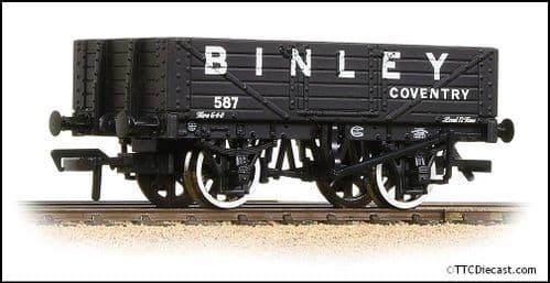 Bachmann 37-074 5 Plank Wagon Wooden Floor 'Binley' Black