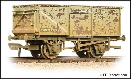 Bachmann 37-225J BR 16T Steel Mineral Wagon BR Grey (Early) - Weathered, OO Gauge