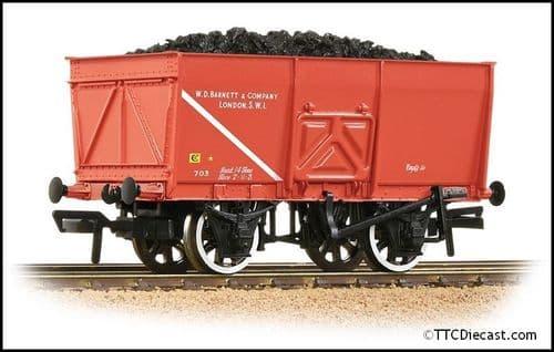 Bachmann 37-429 16T Steel Slope-Sided Mineral Wgn WD Barnett & Co Red Incl Load, OO Gauge