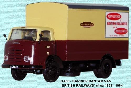 BASE TOYS DA63 Karrier Bantam Van - British Railways