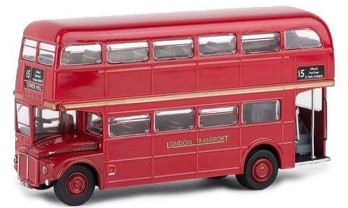 Brekina 61100 AEC Routemaster Bus London Transport Red 1960, 1/87 Scale