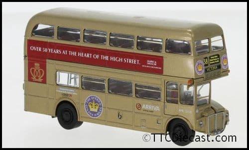 Brekina 61106 AEC Routemaster Arriva Golden Jubilee 2002 Marks & Spencer -Route 38 Victoria